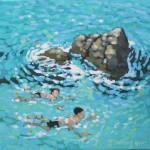 A swim around the rocks. gordon hunt. wychwood art. full image-d72ad41d
