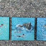 A swim around the rocks. gordon hunt. wychwood art. group-32ae5151