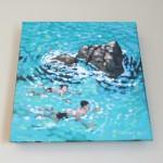 A swim around the rocks. gordon hunt. wychwood art. on the wall-39ce983d