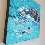 A swim around the rocks. gordon hunt. wychwood art. side view-a19254ee