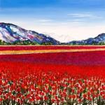 Becca Clegg Stripey Tulip Fields Wychwood Art -cad2f9ec