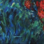 Mary Chaplin Magical ligth in Monet's garden in Giverny detail signature  Wychwood Art-bf7b19ef