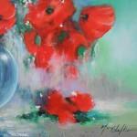 Mary Chaplin bouquet of wild poppies (detail 2 )Wychwood Art -3edffb75
