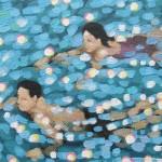 Swim study – blue. gordon hunt. wychwood art. close up-b0ea3746