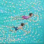 Swim study – turquoise. gordon hunt. wychwood art. full image-3f341e91