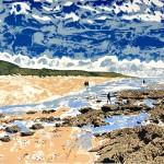 Tim Southall. A Walk on the Beach. Wychwoord Art-922910fa
