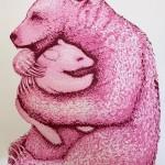 Tim Southall. Bear Hugs (Hot Pink). Wychwood Art-0f06f770