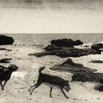 Tim Southall.Dogs on a Beach. Wychwood Art-9e120298