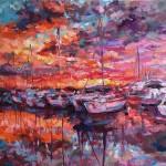 Charmaine Chaudry Harbour Sunset Wychwood Art Landscape-b0a34cb9