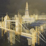 MARC TODD. LONDON ON A SUMMER'S NIGHT. CITYSCAPE PAINTING. LONDON PAINTINGS FOR SALE ONLINE-9a2a8a63