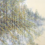 Marc Todd. Late Summer Trees At Dusk. Original Landscape Painting-4ac06cde