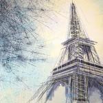 Paris-The Eiffel Tower At Dusk-14269fff