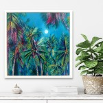 Alanna Eakin Irvine Wychwood Art Palm Tree Oil Painting Medium sized in situ 1-a5bae71c