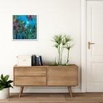 Alanna Eakin Irvine Wychwood Art Palm Tree Oil Painting Medium sized in situ 3-7aa66846