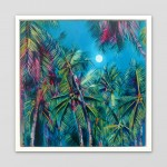 Alanna Eakin Irvine on white wall tropical plam tree oil painting with moon-b7827afe