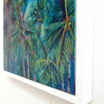 Alanna Eakin Wychwood Art Palm Tree Oil Painting the moon turquoise detail 2-d5b91854