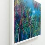 Alanna Eakin Wychwood Art Palm Tree Oil Painting the moon turquoise detail 3-cd58c26d