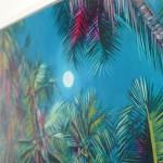 Alanna Eakin Wychwood Art Palm Tree Oil Painting the moon turquoise detail 4-52078095