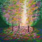 Amanda Horvath   A Secret Wood    Landscape Painting, Impressionist Art, Affordable Contemporary Painting-b52efd65
