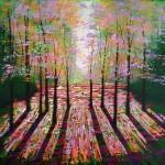 Amanda Horvath  Amber Days Landscape Painting, Impressionist Art, Affordable Contemporary Painting-4e36e459