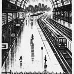 Coastal Trains – Victoria Station Etching 38 x 25 cm Wychwood Art-496a9c2d