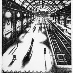 Evening Train – Marylebone Station Etching 38 x 25 cm (15 x 10 inch) Wychwood Art-cbd026e2