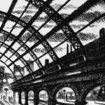 Evening Train – Marylebone Station Etching 38 x 25 cm (15 x 10 inch) detail 4 Wychwood Art-3ecaef0e