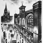 London King's Cross Lithograph 61 x 46 cm (24 x 18 inch) Wychwood Art-89e2899c