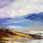 Luisa Holden Shoreline SKy with Indigo Mixed Media on board 23cm x 47.5cm in 40 x 64.5cm mount £320-d9be039a