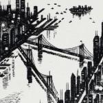 New York Etching 38 x 25 cm (15 x 10 inch) detail 4 Wychwood Art-2561f13e