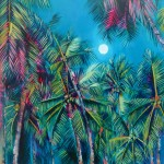 Wychwood Art Alanna Eakin Irvine Art Palm Tree Oil Painting Medium sized the moon-d50df885
