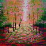 Amanda Horvath  Autumn Glow Landscape Painting, Impressionist Art, Affordable Contemporary Painting-50dc4640