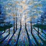 Amanda Horvath  Treasured Blue Glade Landscape Painting, Impressionist Art, Affordable Contemporary Painting-92eeafc2