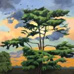 Margaret Crutchley Cedar of Lebanon at Sunset Wychwood Art-ff600829