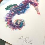 Mini sea horse 2, Gavin Dobson, Screen print-9a32d983