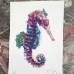 Mini sea horse 3, Gavin dobson, Screen print-ddf73cb8