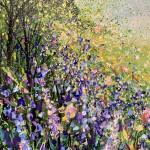 jan rogers colourful woodland with bluebells wychwood art close up 1-c102dd9f