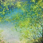 jan rogers colourful woodland with bluebells wychwood art close up 2-95121454