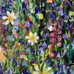 jan rogers colourful woodland with bluebells wychwood art signature-00d81780