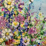 jan rogers wild flower garden with bees wychwood art close up 1-6d55bd86