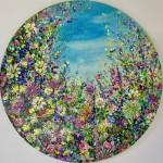 jan rogers wild flower garden with bees wychwood art-d09ac9bd