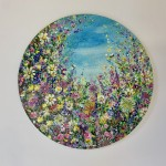 jan rogers wild flower garden with bees wychwood art white background-670728e0